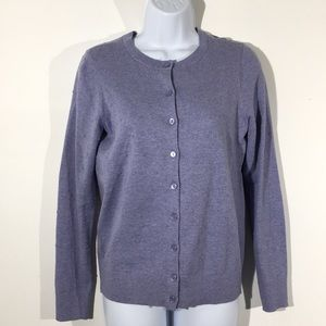 LOFT Sz Small Periwinkle Knotted Cardigan Sweater